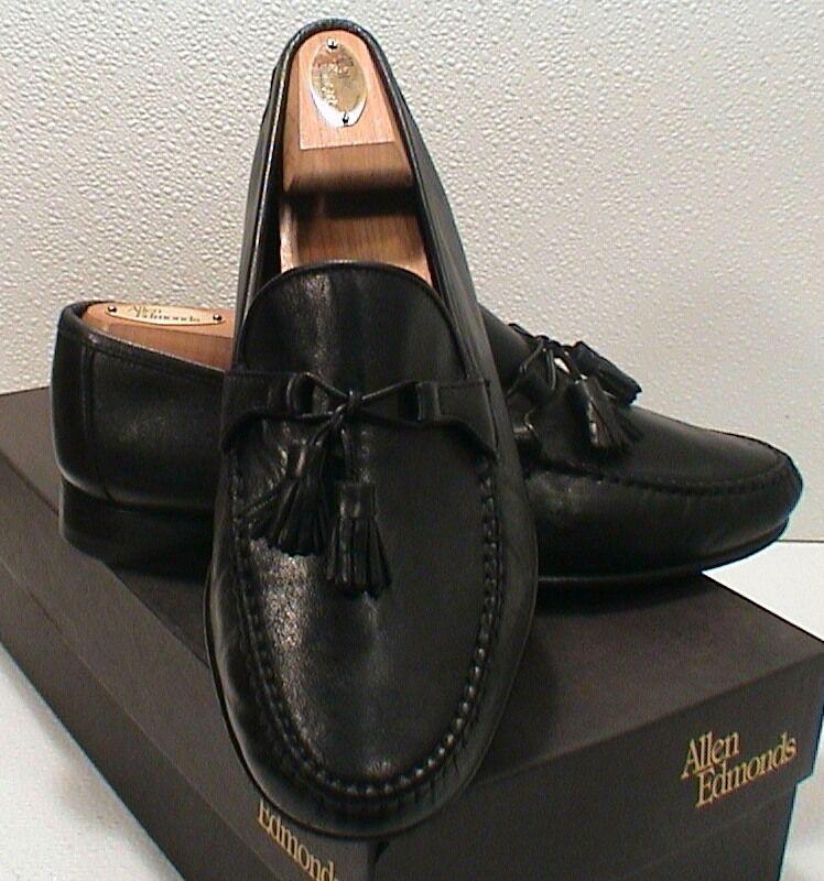 Allen Edmonds Urbino Black Calf Leather upper Tassel Loafer Dress shoes 8 EEE