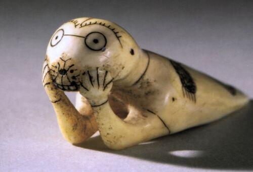 Kanada Ansichtskarte menschliche Robbe Eskimo Innuit