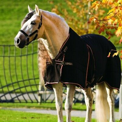 Abile Horseware Rambo Optimo Stable Rug 400g-black/tan, Orange & Black-coperta Stalla-