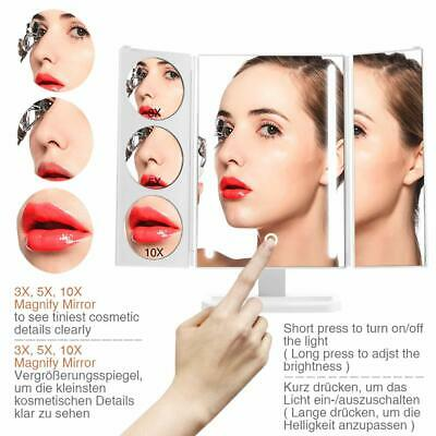 Schminkspiegel 180° Drehbar 24 Led Kosmetikspiegel 1/3/5/10-fach Vergrößerung Möbel & Wohnen Spiegel