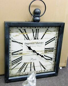 Details About Large Gallery Square Wooden Wall Clock 32 X 24 Pocket Watch Style 52517