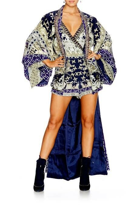 Camilla Franks A Little Past Twilight Kimono Kaftan Playsuit Sz Medium M
