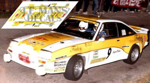 Decals opel manta 400 rally catalunya 1984 rallye Catalunya slot decals sainz