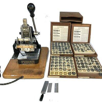 Kingsley Machine SINGLE LINE Hot Foil Stamping Machine ...