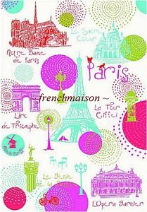 Torchons-amp-Bouchons-EIFFEL-TOWER-Notre-Dame-Paris-Monuments-French-Tea-Towel
