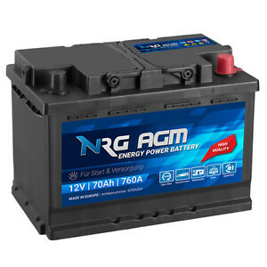 nrg agm autobatterie 12v 70ah 760a en start stop plus vrla. Black Bedroom Furniture Sets. Home Design Ideas