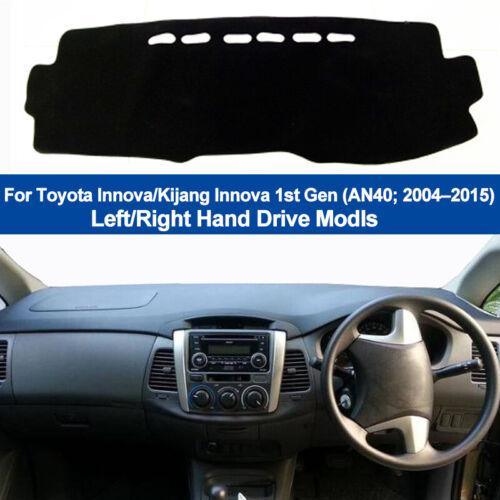 Car Dash Mat Dashboard Cover Carpet For Toyota Kijang Innova AN40 2004-2015