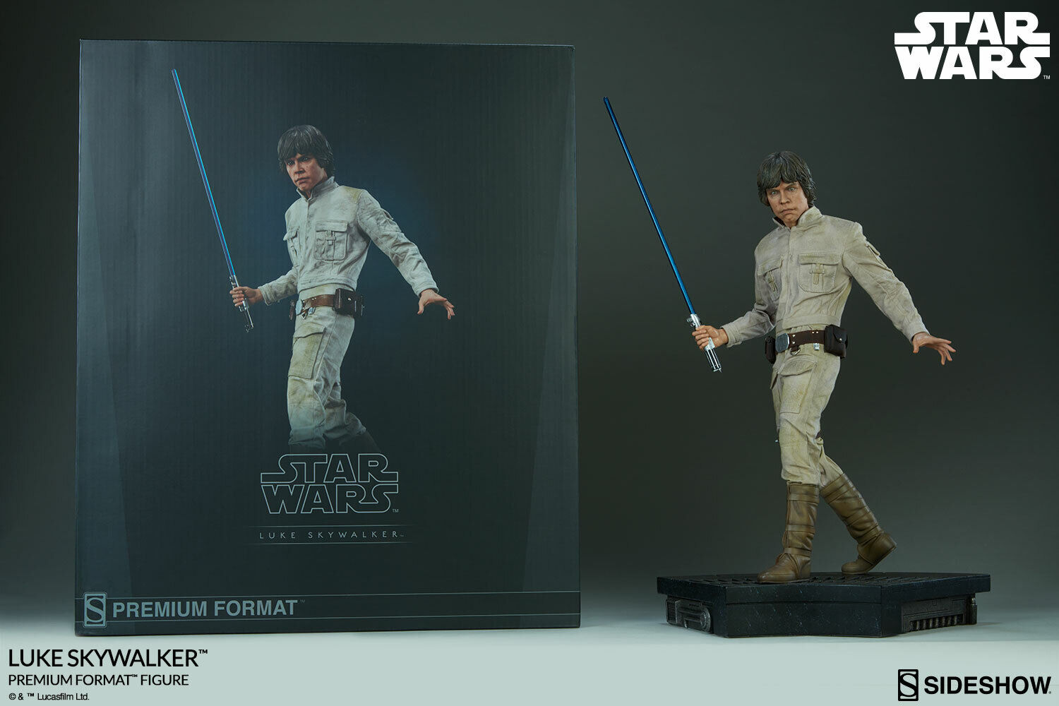 LUKE SKYWALKER PREMIUM FORMAT FIGURE Star Wars Statua by SIDESHOW COLLECTIBLES