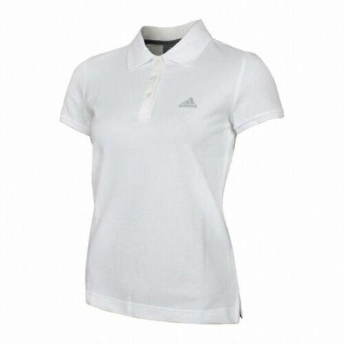 tennis in polo 18 da 22 donna dimensioni bianco da 20 Adidas Top Maglietta cotone Essentials AvqpU