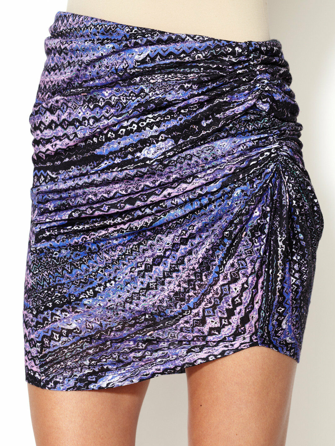 SEE BY CHLOE WOMENS JERSEY RUCHED PRINTED SKIRT  IT 40 BNWT RRP