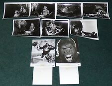 KING KONG 1976 ORIGINAL PRESS KIT B/W PHOTO STILLS SET OF 8 JESSICA LANGE
