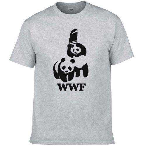 Banksy Panda Guns WWF Tshirt Funny Cotton Tee Vintage Gift For Men Women
