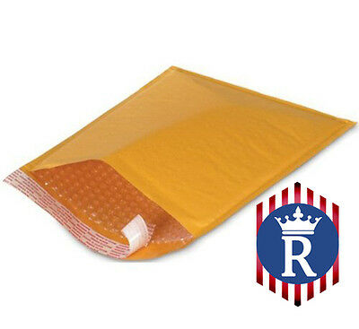 "Self-Sealing Kraft Bubble Cushioned Envelope Mailers ID 5/"" x 9"" 25 KML-00"