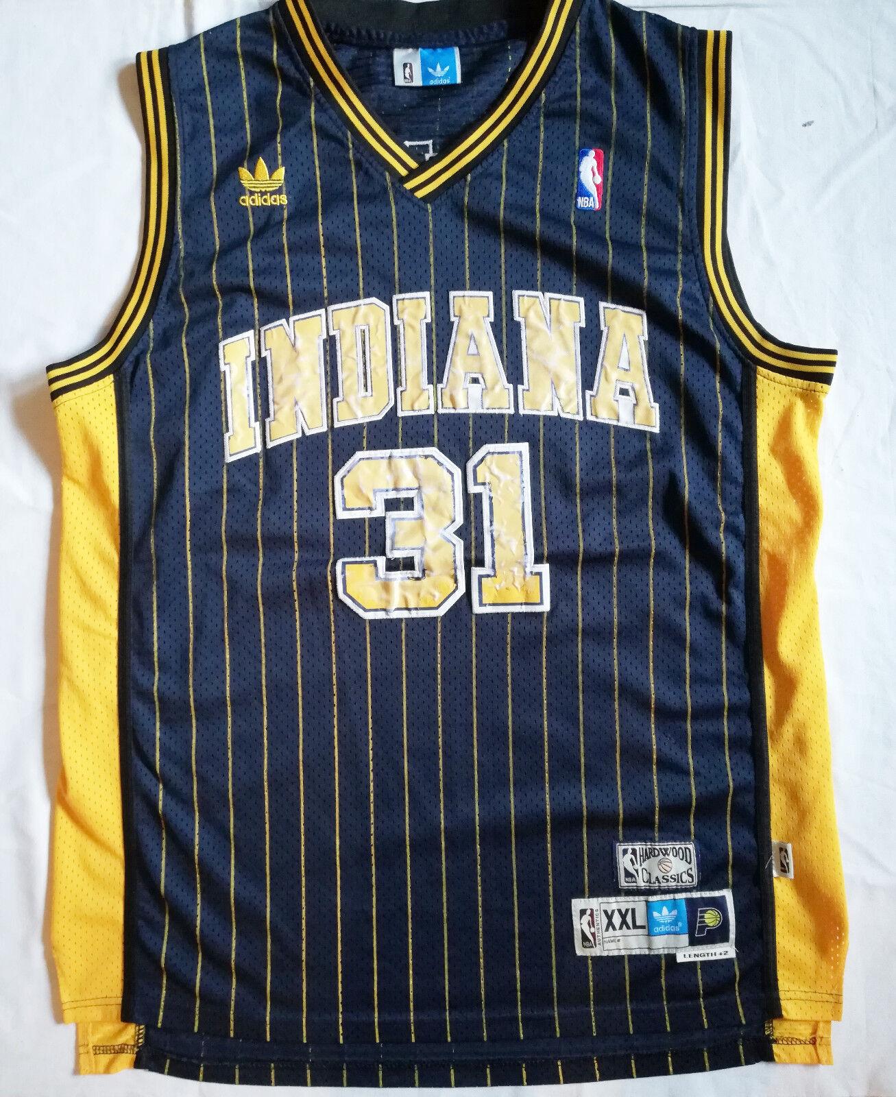 Vintage Indiana Pacers NBA basketball jersey Reggie Miller HARDWOOD CLASICS