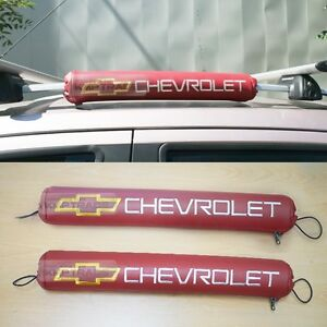 Logo Roof Rack Pad Red Color Cushion 2pcs For Chevrolet