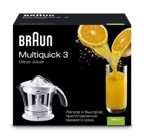 Braun Multiquick 3 Citrus Juicer Saftpresse Küchengeräte Entsafter Zitruspressen
