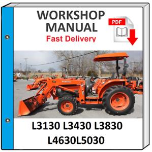 KUBOTA L3130 L3430 L3830 L4630 L5030 TRACTOR SERVICE REPAIR WORKSHOP MANUAL