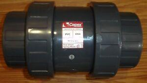 New-Cepex-CPX24303-4-inch-Threaded-CPVC-Check-Valve-4-034-PVC-Spring-Ball-Check