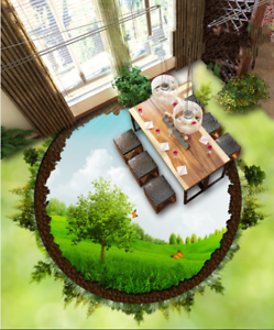 3D Sun Round Forest 34 Floor Wall Paper Wall Print Decal Wall Deco AJ WALLPAPER