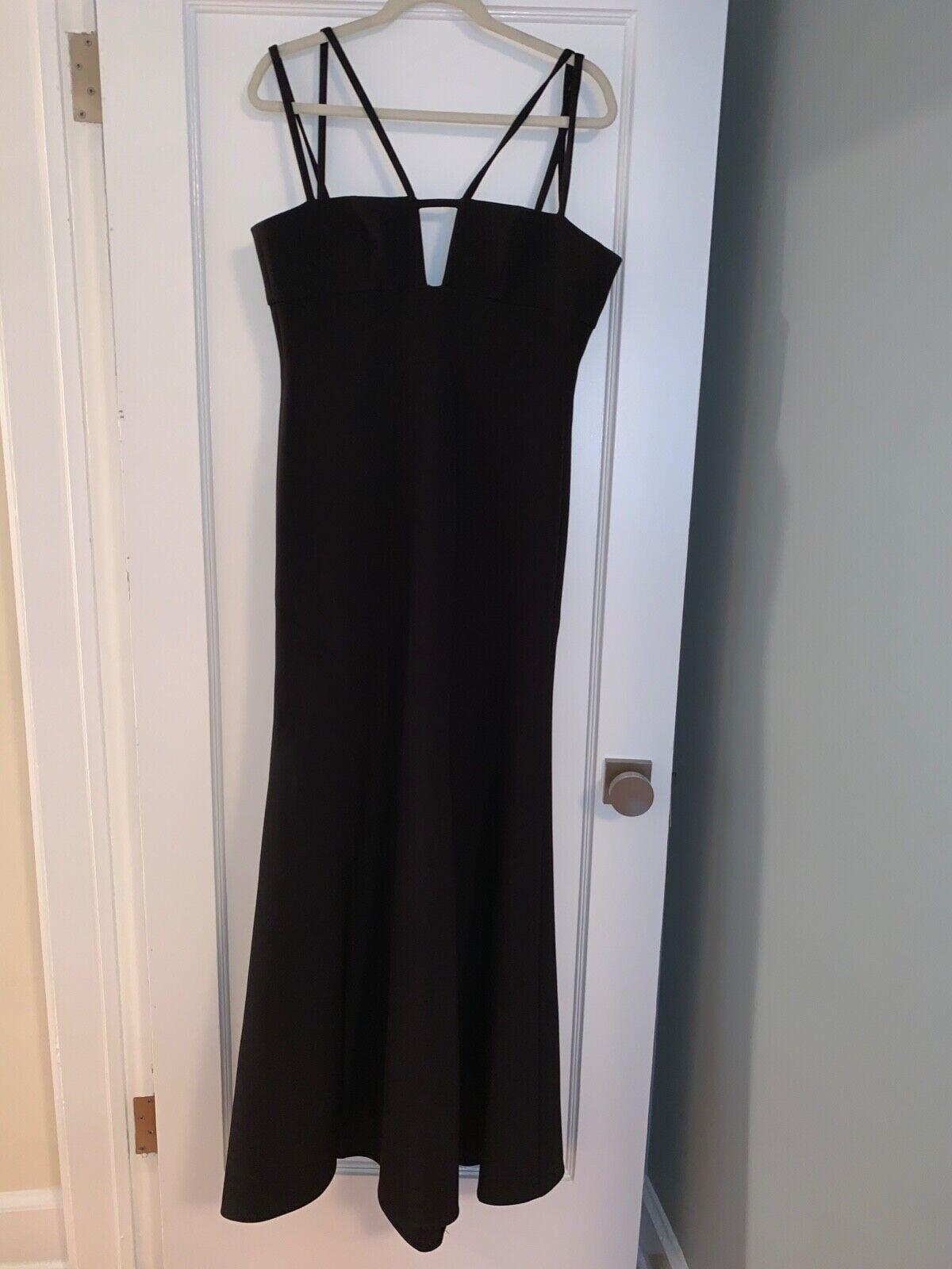 BCBG Max Azria Leola Double-Strap Cutout Gown, schwarz, Größe 6