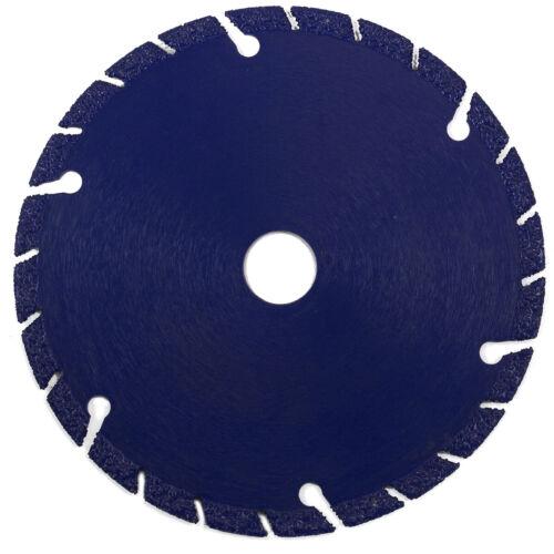 "4-1//2/"" Diamond Cut-Off Blade Edge Metal Steel Iron Stainless Wheel 5//8/"" arbor"