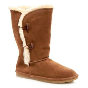 white mountain womens snow boots suede plush lined comfort