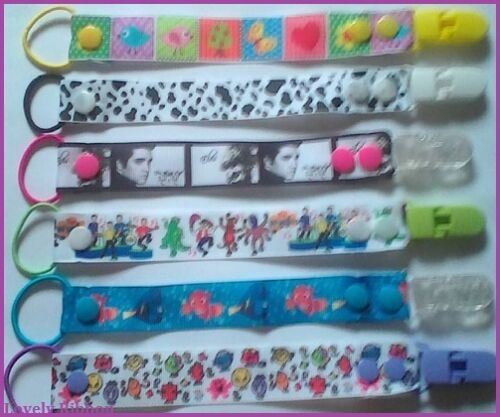 Pacifiers 1 x DUMMY CLIP Boys Hand Made Girls Ribbon Toy Saver Baby