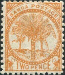 Samoa-1895-SG59a-2d-orange-Palm-Tree-MH
