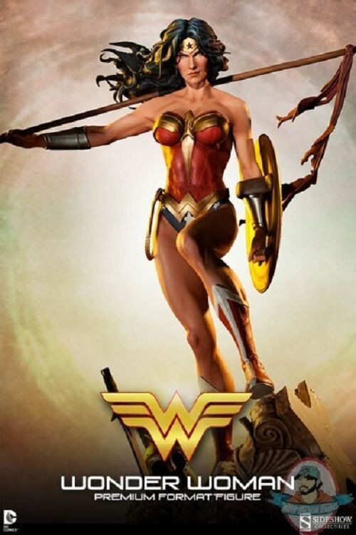 Dc Comics Wonder Woman Premium Format Figure Sideshow 300115 Used JC
