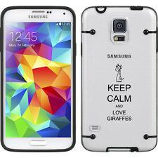 For Samsung Galaxy S3 S4 S5 Clear Hard TPU Case Cover Keep Calm Love Giraffes