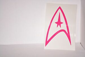 Star-Trek-Federation-Vinyl-Car-Laptop-iPad-Mac-Tablet-Decal-Sticker-Choose-Color