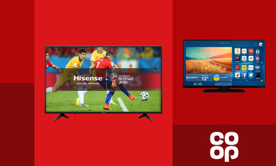 £30 off TVs over £299 from Co-op