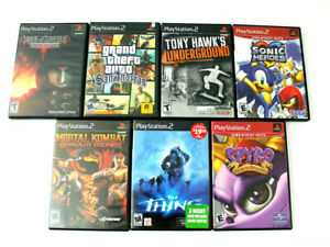 PS2-Lot-of-7-Games-Mortal-Combat-Shaolin-Monks-Spyro-The-Thing-Final-Fantasy-VII