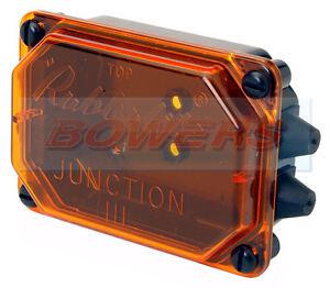 Rubbolite//Camión-Lite Modelo M111 111//01//01 8 tapa de color ámbar de manera Caja de Conexiones Remolque