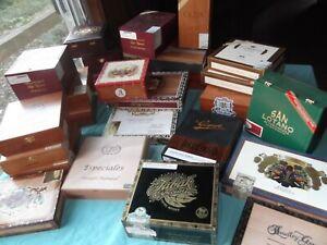 LOTTO-di-10-Fancy-legno-massello-le-scatole-di-sigari-tutti-diversi
