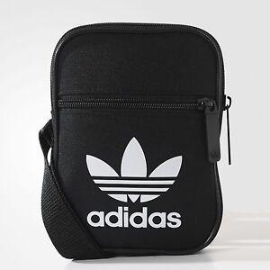 397e07d79a04 Image is loading adidas-mini-shoulder-SMALL-messenger-bag-BLACK-100-