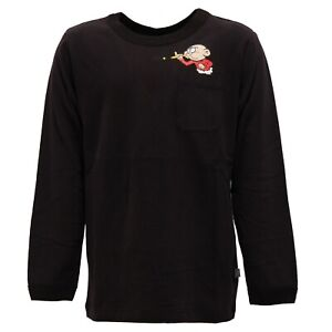 l'ultimo b4539 d6a46 Details about 8995Y maglia bimbo boy STELLA McCARTNEY KIDS cotton black  t-shirt long sleeve