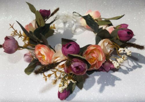 Hair Flower Garlands MIXED Colours HENS NIGHT BULK PACKS Wreath Crown