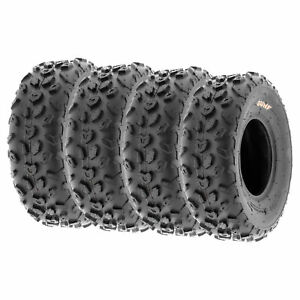SunF 19x7-8 19x7x8 Tubeless 6 PR 19 ATV UTV Tires A014 Set of 4