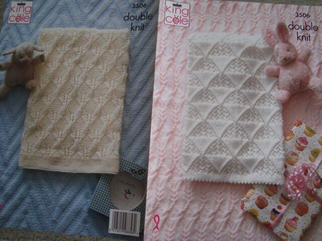 King Cole 3506 Baby's Blankets DK Knitting Pattern