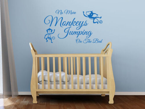 """Transfer. Wall Art Sticker Child/'s Wall Quote /""""No More Monkeys../"""" Vinyl Decal"""