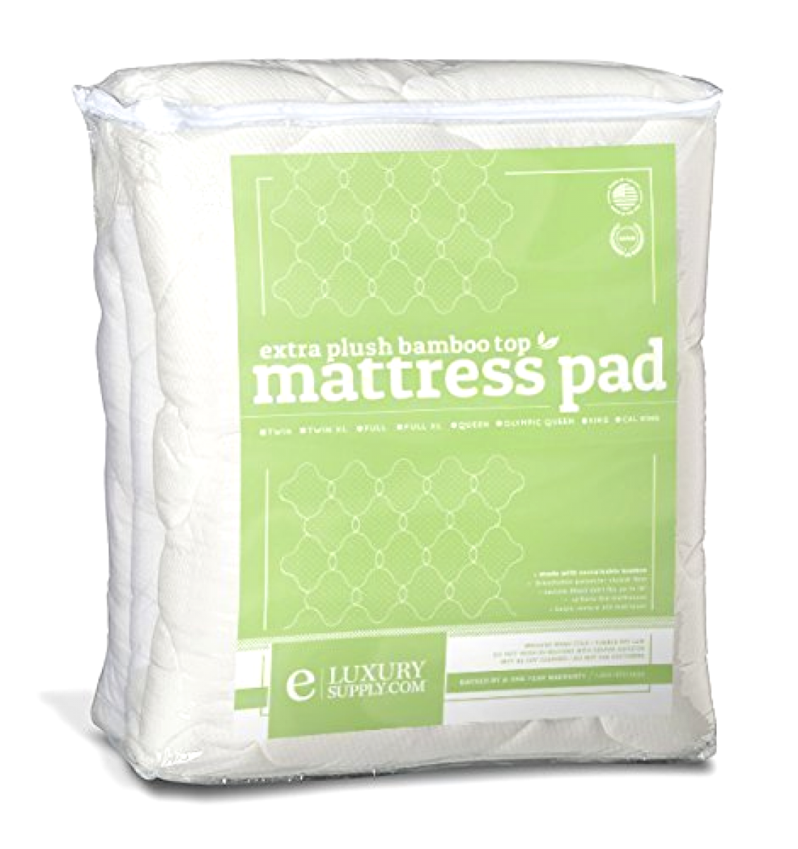 Bamboo Mattress Pad Fitted Skirt Extra Plush Cooling Topper Hypoallergenic, King