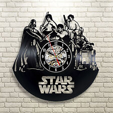 Darth Vader Star Wars Death Star Christmas Wall Decor Movie Vinyl Record Clock