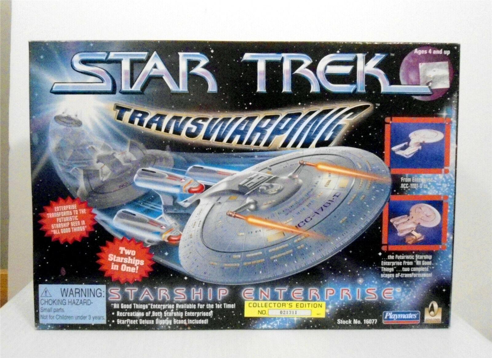 el mas de moda Estrella Trek transwarping Enterprise 1701-D Juguete Menta Menta Menta en caja sellada Jugarmates 1996  diseños exclusivos
