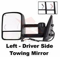 Sierra Power Heated Telescopic W/signal Lamp Upgrade Tow Mirror Left Driver