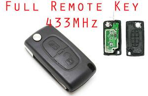 Fits-to-Citroen-C3-C2-2-Button-Remote-Key-FOB-433MHz-VA2-blade-ce0536