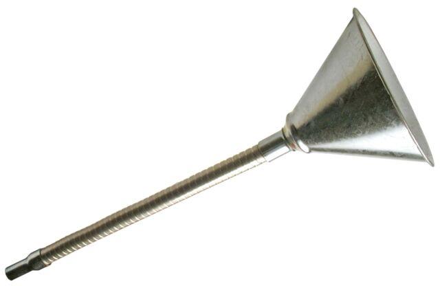 Einfüll Trichter flexibel Sieb Flexibler KFZ Metall Trichter Benzin Diesel Öl