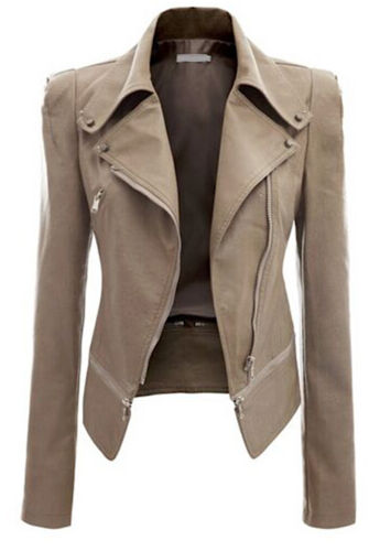 Giacca Corta Giubbotto Donna Similpelle PU Leather Woman Short Jacket JAC0016