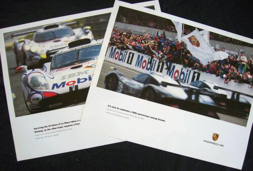 PORSCHE 993 911 GT1 LE MANS FRIENDS /& SURVIVING RACECAR SHOWROOM POSTER SET 1998