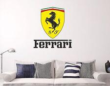 Ferrari Logo Wall Decal Sticker Cars Brand Decor Vinyl Letters
